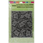 Stampendous Cling Rubber Stamps, Leather Flowers
