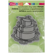 Stampendous Pen Pattern Cake Cling Rubber Stamp