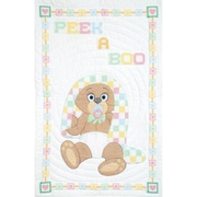 Jack Dempsey Stamped Crib Quilt Top White 40 x 60 inch, Peek A Boo