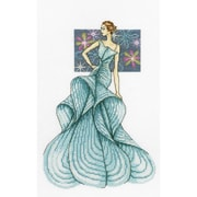 RTO Cross Stitch Kit Woman of Fashion Counted 8 x 12.5 inch