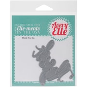 Elle-Ments Thank You 6 x 4.25 inch Die