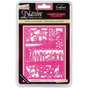 Crafter's Companion Die'sire Create A Card Cutting & Embossing, Party Invitation