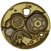 "FabScraps Embellishments Brass 1.5"" x 1.5"", Watch Back"