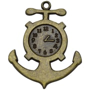 FabScraps Embellishments Jewellery Brass, Anchor Clock