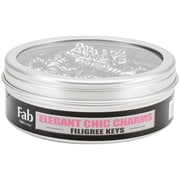FabScraps Embellishments Silver, Filigree Key