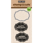 Hero Arts Stamp & Cuts, Christmas Tags