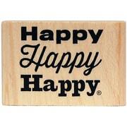 Kellycraft Duck Commander Mounted Stamp, Happy Happy Happy