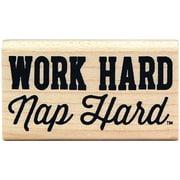 Kellycraft Duck Commander Mounted Stamp, Work Hard Nap Hard