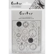 Crafty Individuals Stamp, Tick Tock Clock Faces