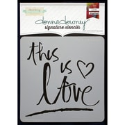 Donna Downey Stencils Signature Stencils, This Is Love