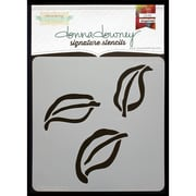 Donna Downey Stencils Signature Stencils, Triple Leaf