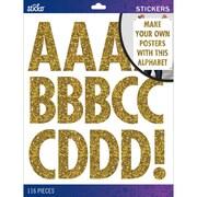Sticko Alphabet Stickers X-Large, Gold Glitter Futura