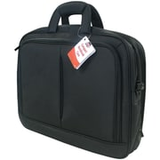 "Travel Solution Black Polyester Fabric Top-Loading 15.4"" Notebook Bag"
