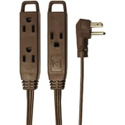 AXIS® 8' Indoor Extension Cord, 3-Outlet, Brown