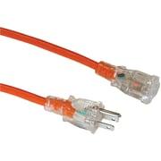 AXIS® 1-Outlet Indoor/Outdoor Workshop Extension Cord, 25', Orange