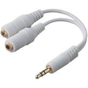 Belkin® F8V234 Speaker/Headphone Splitter For iPod, White