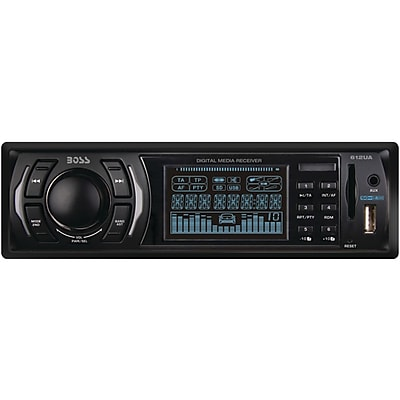 Boss 612UA In-Dash Single-DIN Mechless MP3 Player