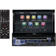"Boss® In-Dash Single-DIN 7"" Motorized Touch-Screen Monitor Bluetooth DVD Player"