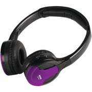 Boss® Wireless 2-Channel Over-Ear IR Headphone With Color Accent Caps, Black