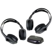Boss® Wireless 2-Channel Over-Ear IR Headphone Set With Transmitter, Black
