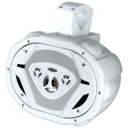 "Boss® MRWT69 6"" x 9"" 4-Way Marine Wake Tower Speaker, 550 W, White"