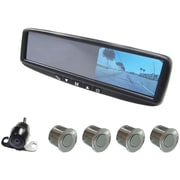 Boyo® VTB44MCP Digital LCD Rear View Mirror Monitor With Backup Camera, Silver