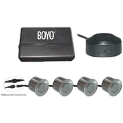 Boyo® VTSR100 4-Rear Parking Sensor System With Waterproof Connectors, Silver