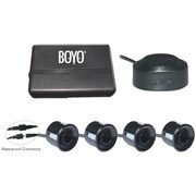 Boyo® VTSR120 4-Rear Parking Sensor System With Waterproof Connectors, Black
