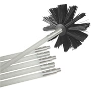 Deflecto® Dryer Duct Cleaning Brush Kit, 12', White/Black