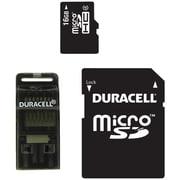 Duracell® microSD (micro Secure Digital) Class 4 Memory Card, 16GB