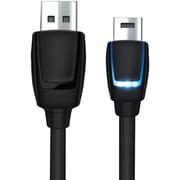 DreamGEAR® DGPS4-6405 10' 4 LED Charging Cable, PlayStation®4, Black