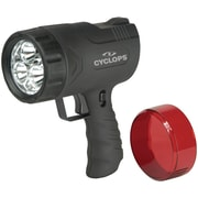 GSM Cyclops Sirius LED Rechargeable Handheld Spotlight, 300 Lumen, 9 W, Black