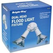 Bright Way Dual Head Outdoor Flood Light Fixture