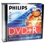 Philips DR4S6S05F/17 4.7GB 16x DVD+Rs With Slim Jewel Cases