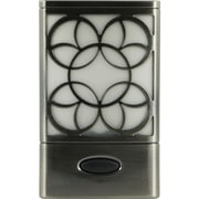 "GE Rechargeable Decorative Power Failure LED Night-Light, Faux Brushed-Nickel, 1.9"" x 3.6"" x 6.9"""
