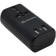 Lenmar® Ultra-Compact All-In-One Travel Adapter With USB Port, Black
