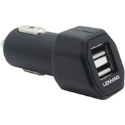 Lenmar® High Output Dual USB Auto Charger For 2 iPads/iPhones, Black