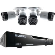 Lorex® 4 Channel DVR Security System With 4 720p HD Cameras, Silver