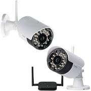 Lorex® Wireless Security Cameras With Dual Receiver And Night-Vision, White/Black