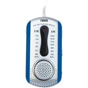 Naxa® 0.5 W AM/FM Mini Pocket Radio With Built-In Speaker, Blue