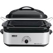 Nesco® 18-Quart Porcelain Roaster Oven, Silver