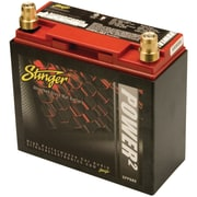 Stinger Power2 680 A/12 VDC Dry-Cell Lead-Acid Vehicle Battery With Metal Case, Red