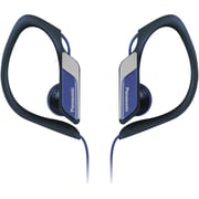 Panasonic Sport Clip HS34 Water-Resistant Earbud Headphone With Microphone, Blue