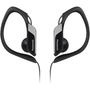 Panasonic Sport Clip HS34 Water-Resistant Earbud Headphone With Microphone, Black