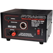 Pyramid 13.8 VDC 10 A Power Supply With Car Charger Adapter, 250 W
