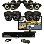 Security Labs 8 Channel DVR Security System With 8 960H Cameras, Black
