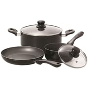 Starfrit Simplicity 5 Piece Cookware Set, Black