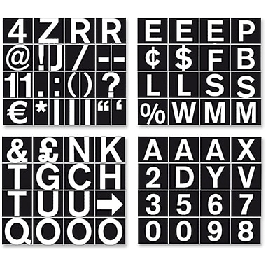MasterVision – Lettres aimantées Bi-Silque de 3/4 po, blanc