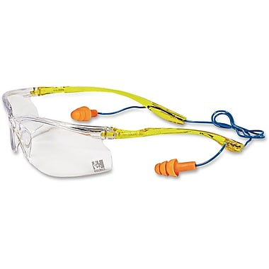 3M™ Earplug Cord System Safety Glasses, Yellow