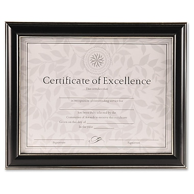 Burns Group Office Solutions 2-Way Certificate Frame, 8.5